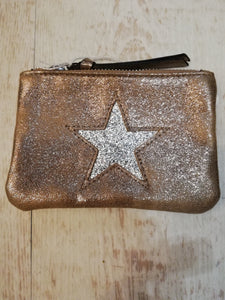 Gold star coin/card purse bag