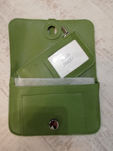 Green travel purse wallet