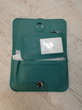 Teal travel purse wallet