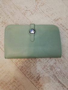 Light green travel purse wallet