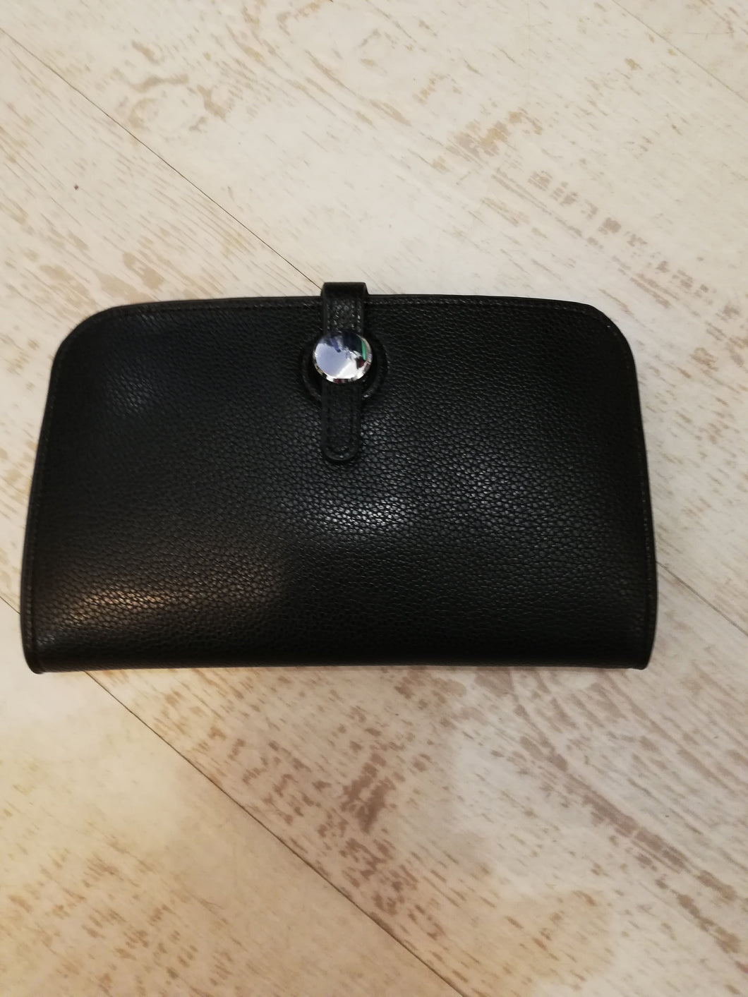 Black travel purse wallet