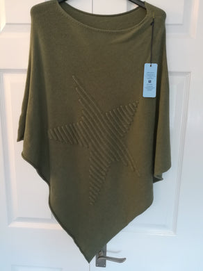 Star poncho one size £26 khaki