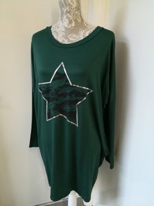 Star slouch tunic top one size 8/16