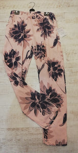 Pink/Navy flower trousers size 10-16
