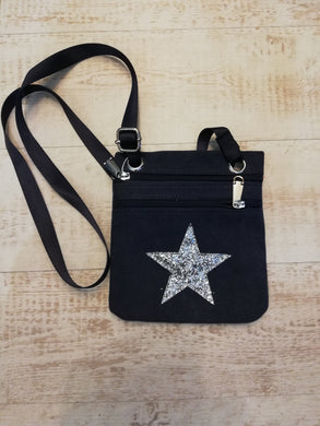 Star Canvas Cross Body Bag £12