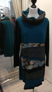 Coline Cowl Teal Dress size XL (14/16)