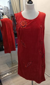 Coline Red sleeveless dress size M (10)
