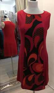 Coline Red Pattern Dress size M (10)
