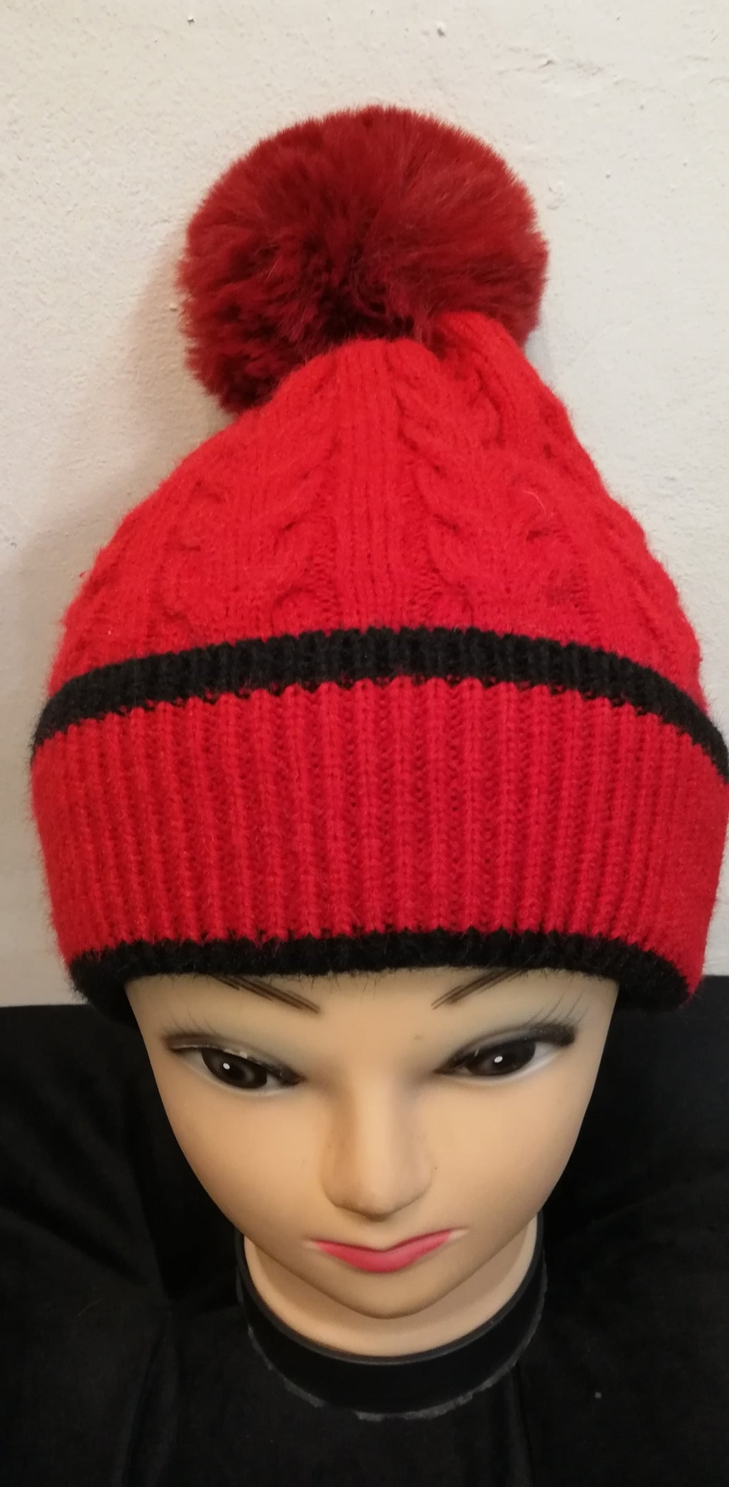 Hat Red with Black pipe