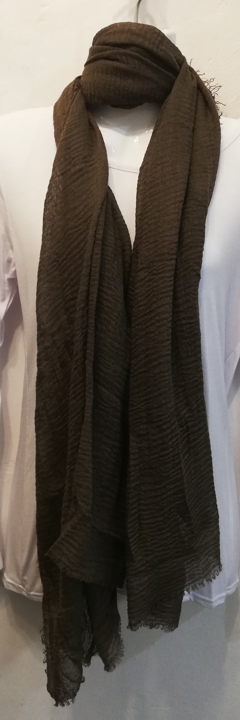 Plain Brown Scarf