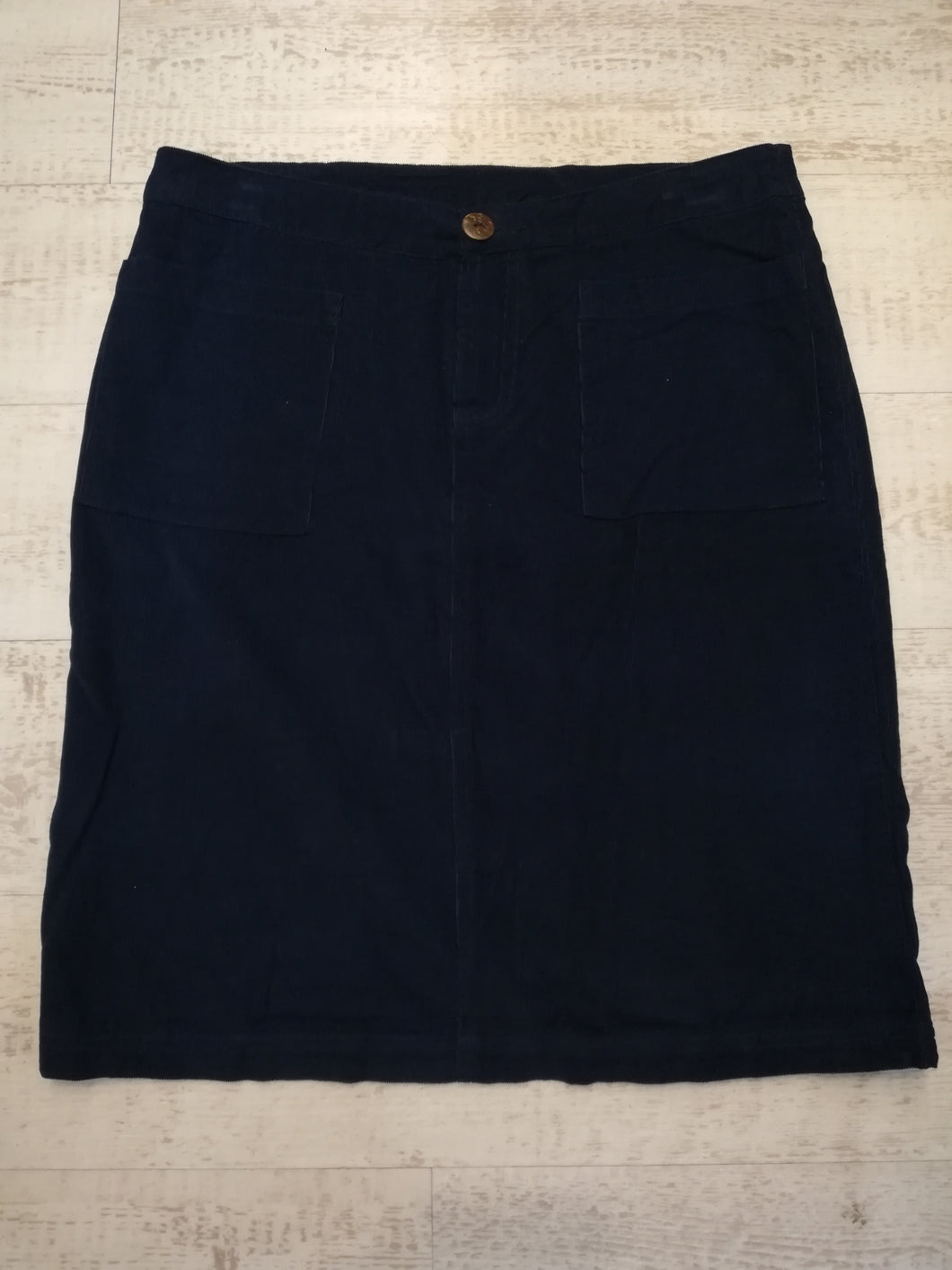 Lily & Me Navy cord skirt size 12 NO RETURN