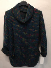 Load image into Gallery viewer, Cosy fleck poncho top with pockets one size to a 16 SALE NO RETURNS