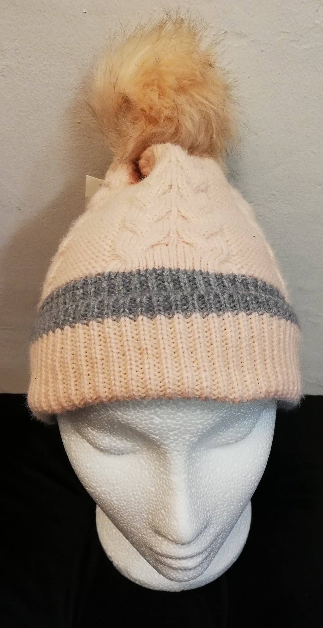Hat pink with grey trim SALE PRICE £7.50 NO RETURN