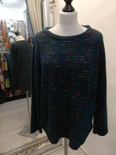 Load image into Gallery viewer, Cosy Green fleck top with pocket one size 10-16