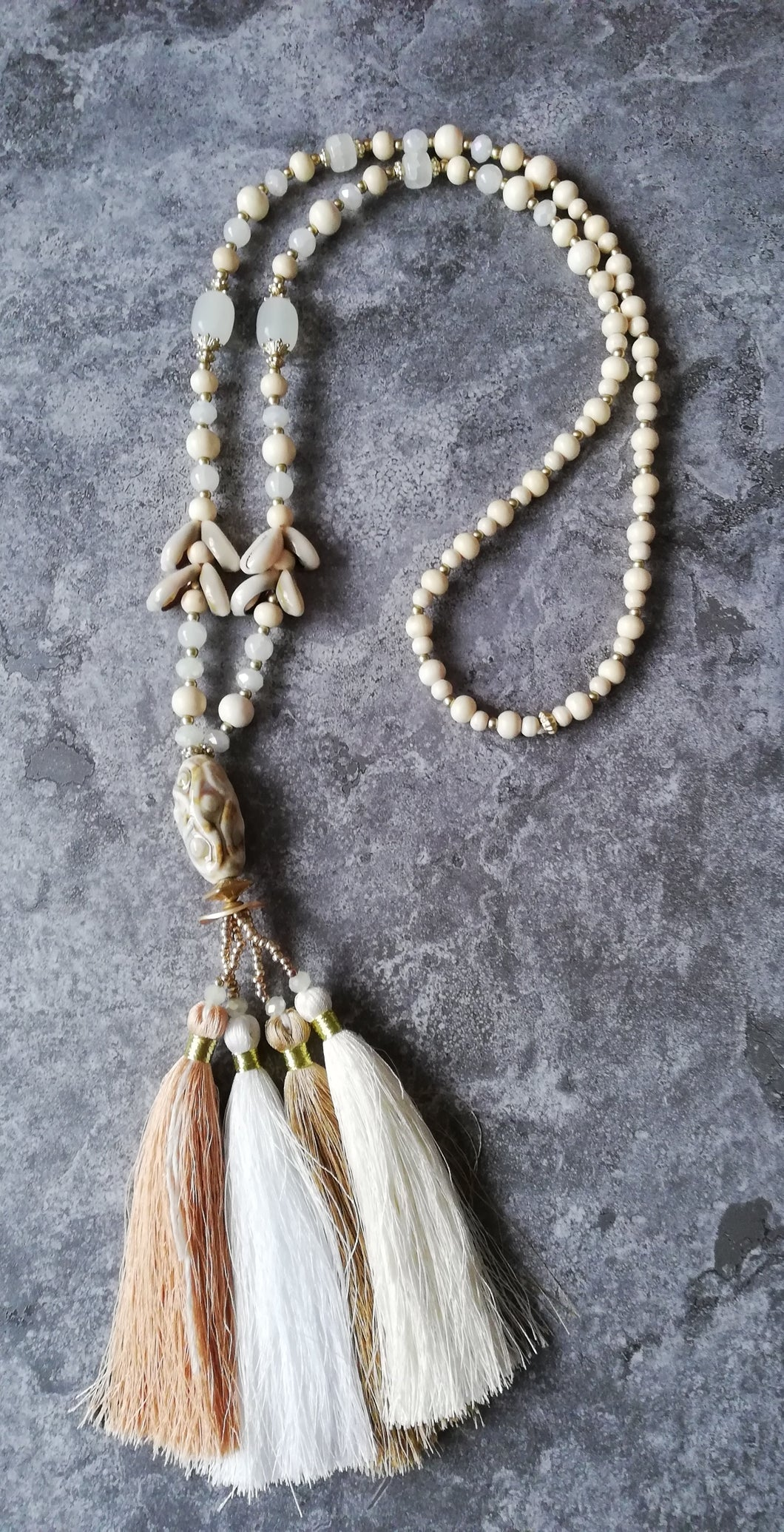 Boho Necklace Shell Tassel