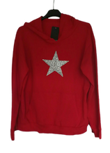 Load image into Gallery viewer, Silver Star Hoody - one size 10/14 £25