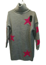 Load image into Gallery viewer, Longline Star Jumper one size 10/16 £32