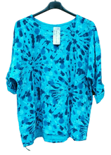 Load image into Gallery viewer, Splash Print Cotton Top one size to an 18 £20