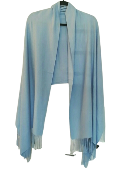 Blue Cashmere Mix Pashmina £20 SALE PRICE £10 NO RETURN
