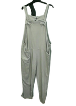 Load image into Gallery viewer, Large Plain Dungarees - ones size 16/18 £28