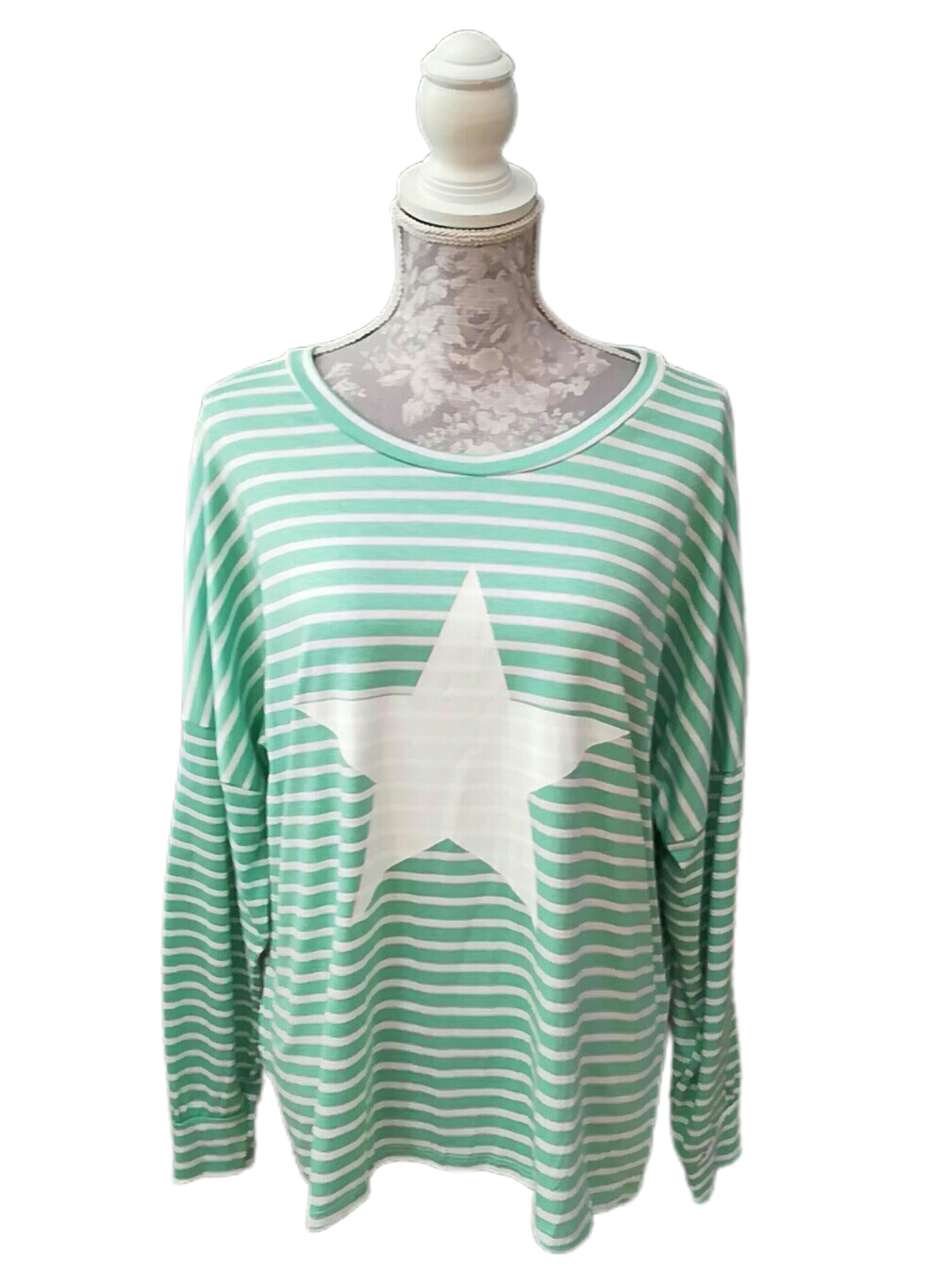 Striped Top with Star Detail - one size to a 16 £25