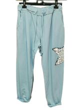 Load image into Gallery viewer, Sequin Star Joggers one size 10/16 £26