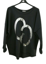 Load image into Gallery viewer, Foil Print Sweatshirt Top - one size 10/16 £25 SALE PRICE £15 NO RETURN