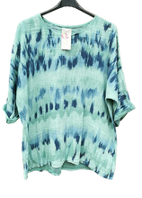 Load image into Gallery viewer, Tye Dye Cotton Top one size to an 18 £20