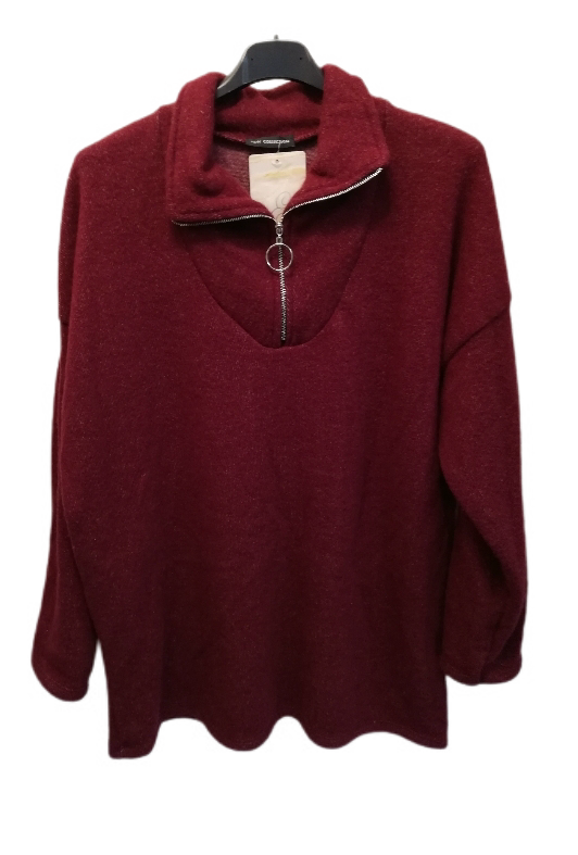 Cosy zip up top - one size to a 18