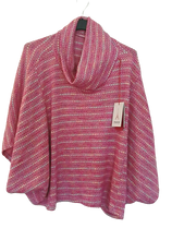 Load image into Gallery viewer, Spring Cosy Poncho Top with Sleeve one size 10/16 £25 SALE PRICE £15 NO RETURN