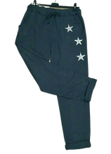 Load image into Gallery viewer, Crystal Star Joggers - one size 10/16 £22