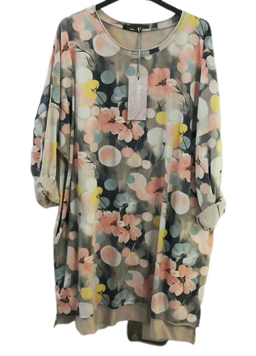 Spring Floral Sweatshirt Top one size 16/20 £25