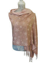 Load image into Gallery viewer, Reversible Cashmere Mix Star Wrap - £20
