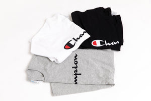 Champion Embroidered T-Shirt - Grey