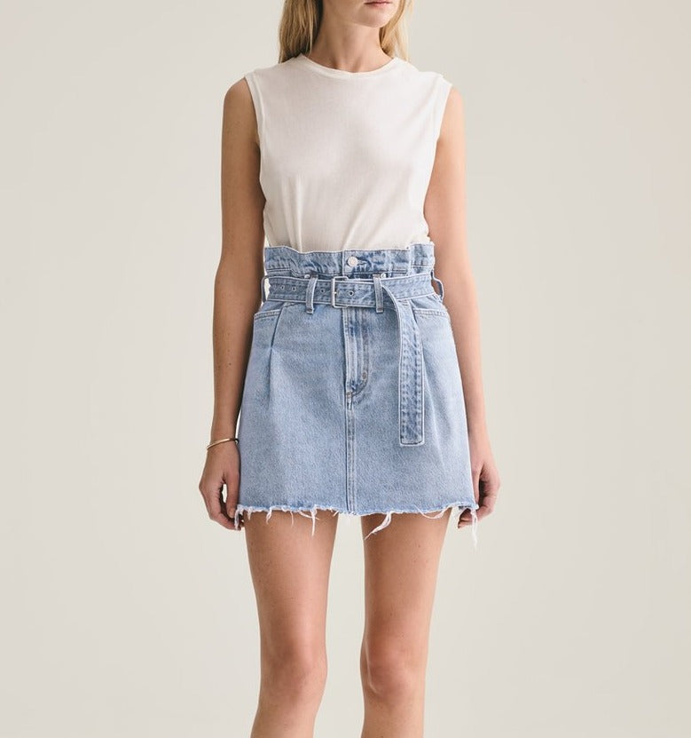 Reworked 90's A-Line Denim Skirt
