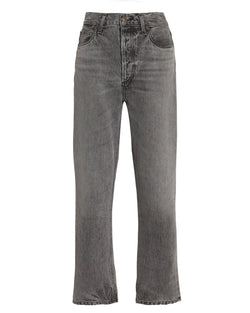 Riley High-Rise Straight Cropped Jean