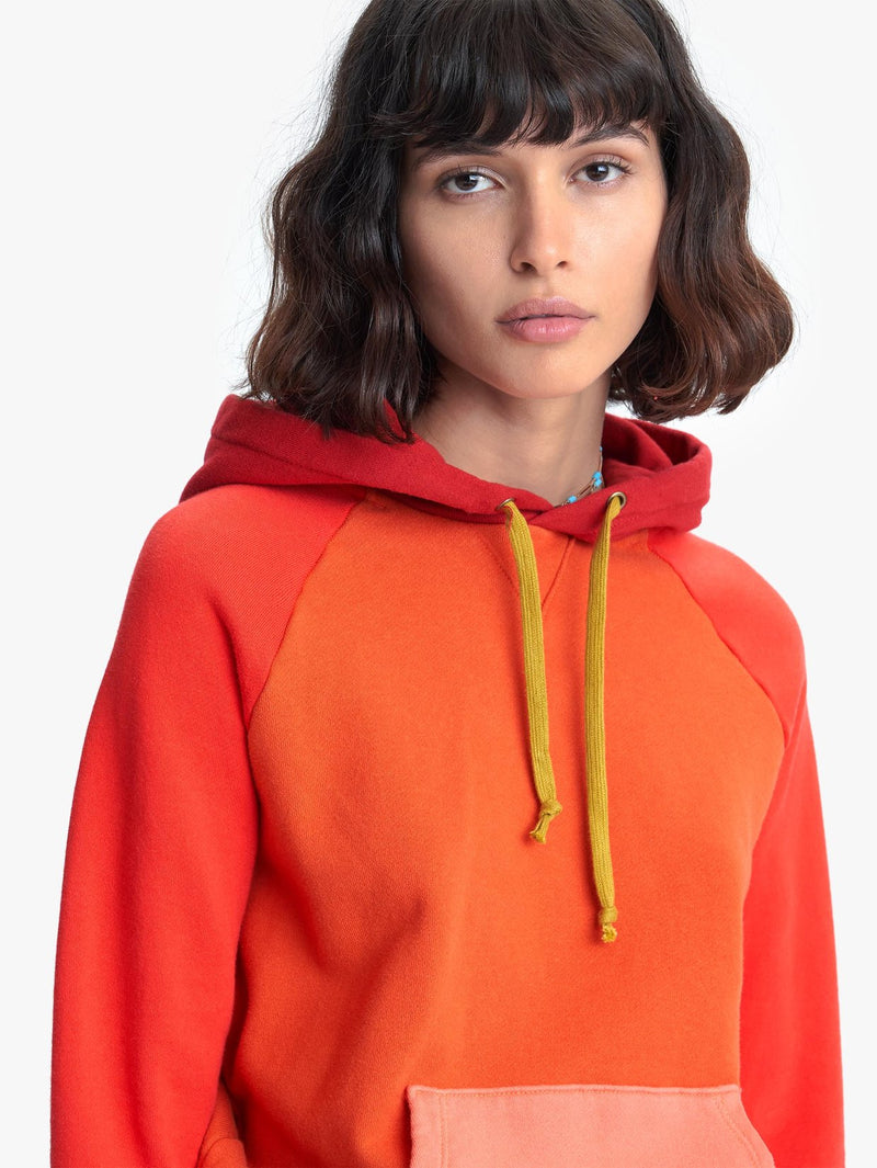 Mother Color-Blocked Square Hoodie