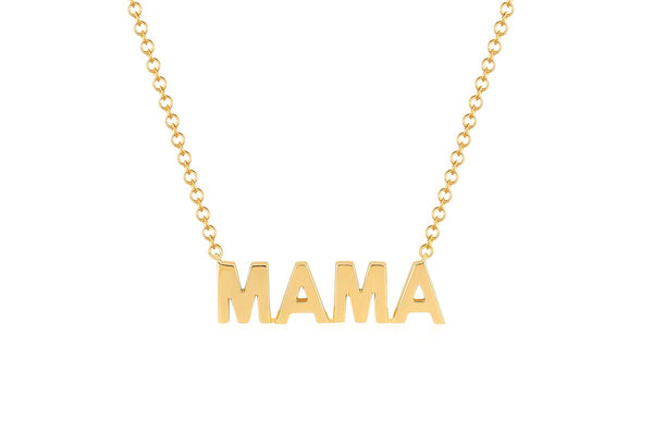 14k Mini Gold Mama Necklace