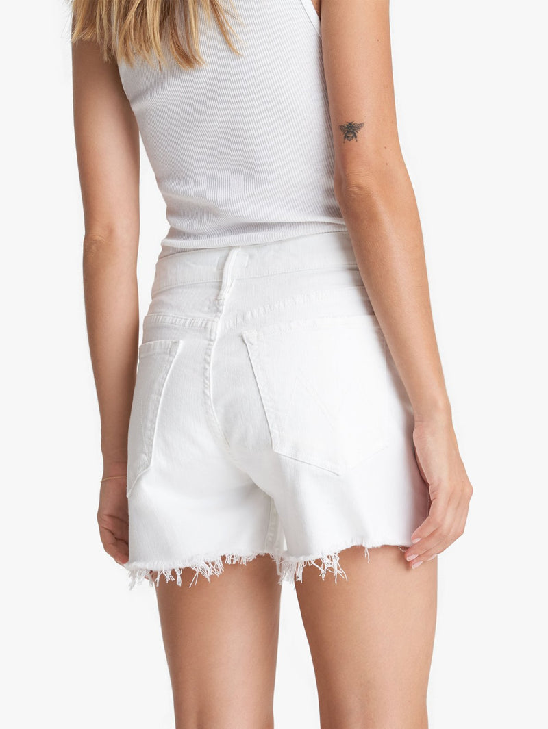 Mother Denim Sinner Fray Jean Shorts