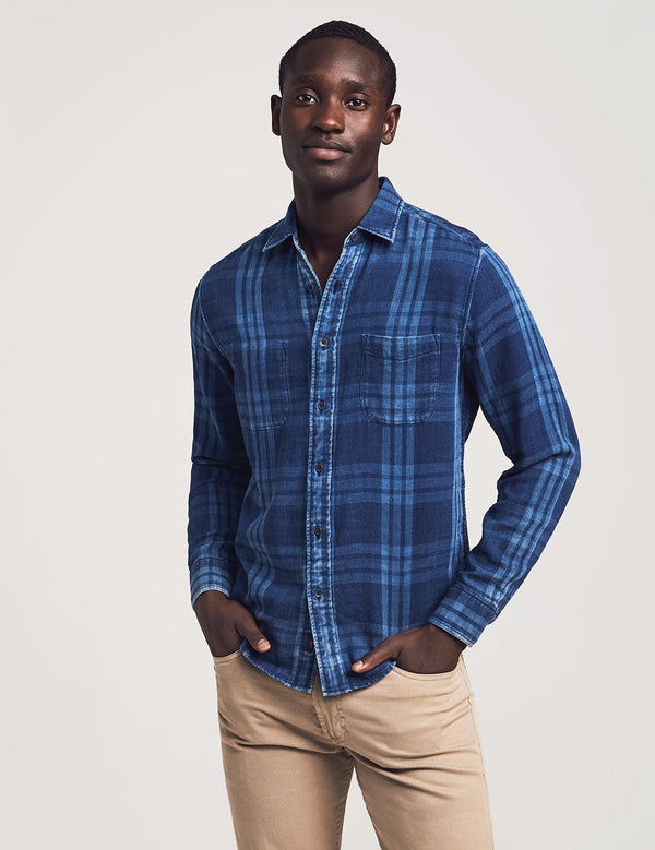 Faherty Bel Mar Shirt Indigo Plaid