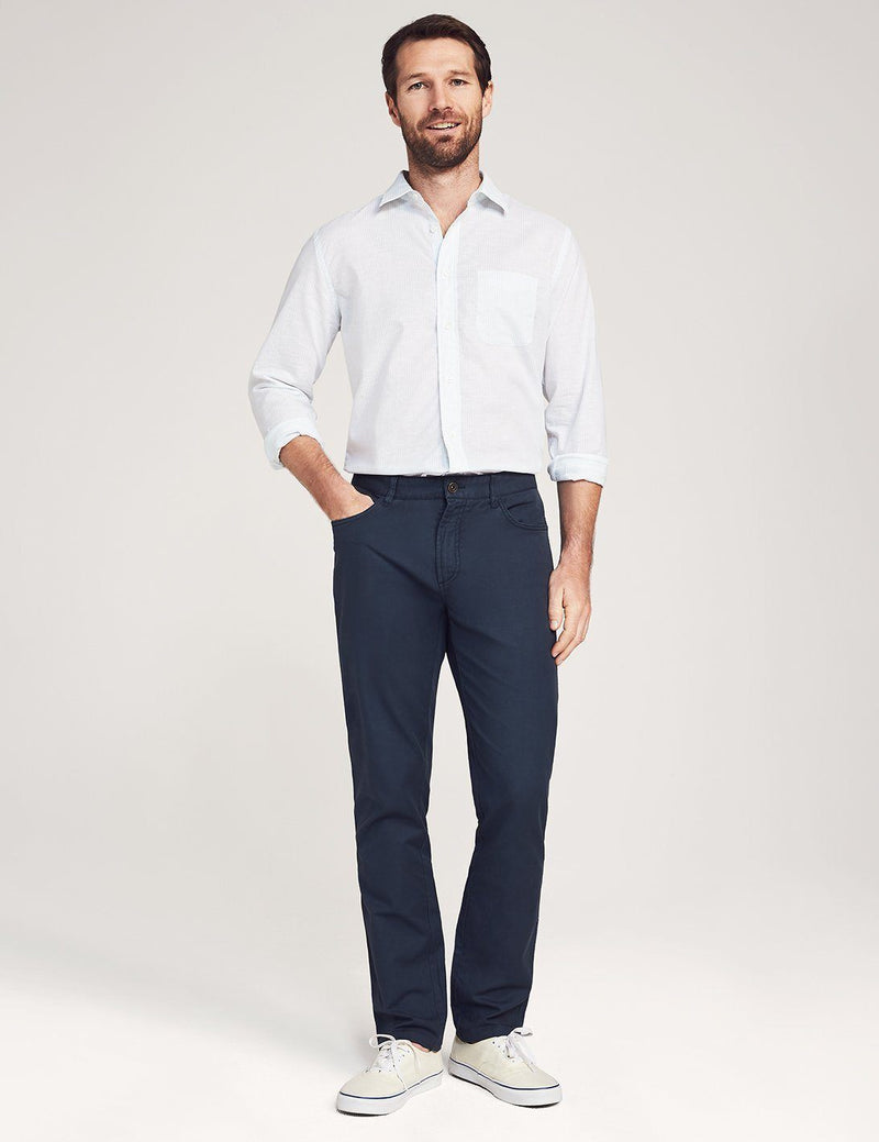 Faherty Del Mar Pant Navy