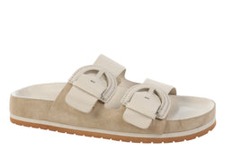 VInce Glyn Buckle Slide Sandals Natural Biscotti
