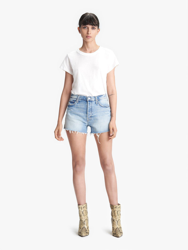 Mother Heart Tomcat Fray Jean Shorts