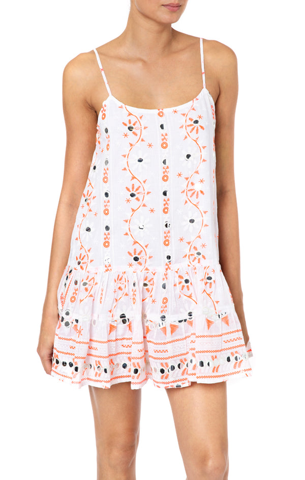 Juliet Dunn Nomad Embroidered Cami Dress Pink