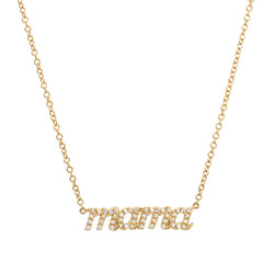 "Diamond ""Mama"" Script Necklace"