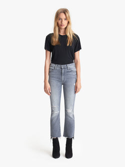 Mother Denim Insider Crop Step Fray Ace of Spades Gray