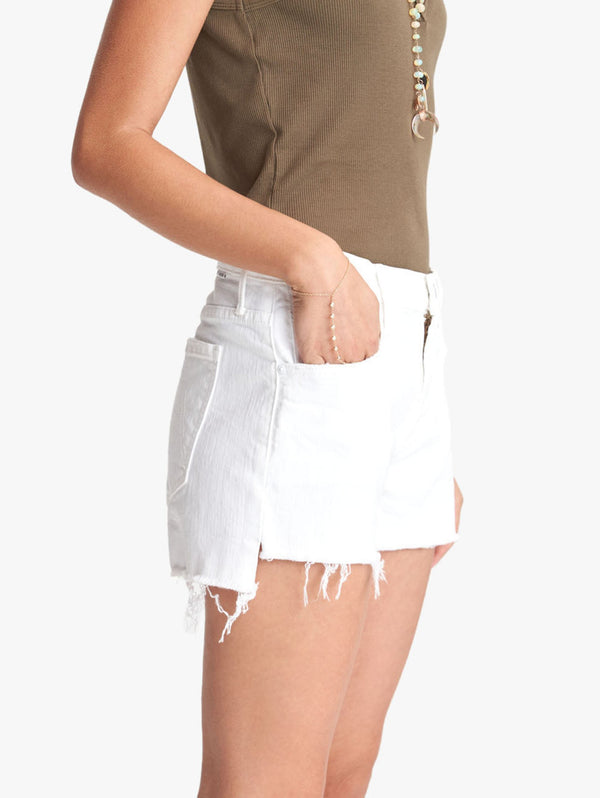 Teaser Step Fray Denim Shorts