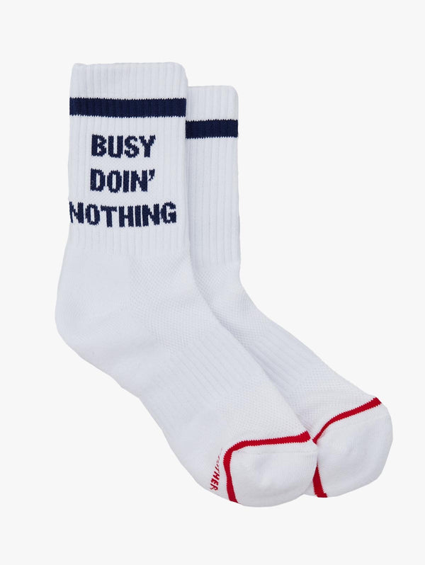 """Busy Doin' Nothing"" Socks"