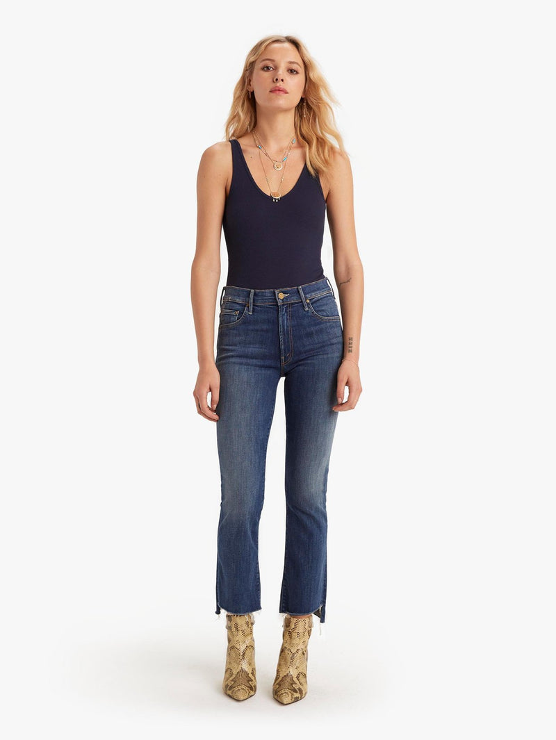 Insider Crop Step Fray Jeans