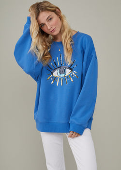 Alexa Oversized Evil Eye Sweatshirt